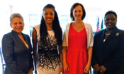 US and Bahamian officials with Dr. DeWeever