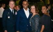 US and Bahamian officials at the of July reception